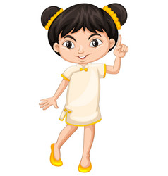 chinese girl in traditional costume vector image