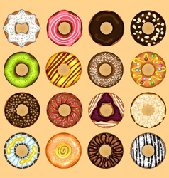 Donuts Collection Set vector image vector image