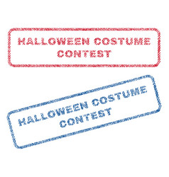 Halloween costume contest textile stamps vector