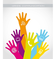 hands communication vector image