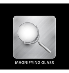 Magnifying glass mobile app button vector image vector image