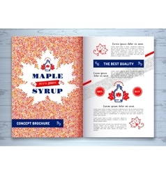 Maple syrup brochure corporate identity canadian vector