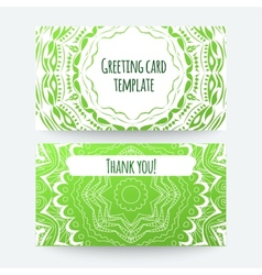 Set of business card and invitation card templates vector image