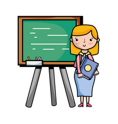 teacher teaching class lesson in the backcoard vector image vector image