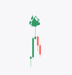 candlestick stock exchange background vector image