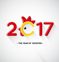 Happy New Year 2017-The year of rooster concept vector image vector image