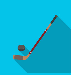 hockey stick and washer canada single icon in vector image