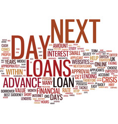 Loans within forty eight hours text background vector