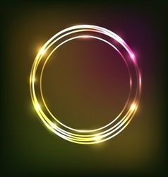 Abstract colorful neon background with circles vector image vector image