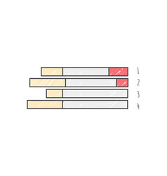bar graph representing data vector image