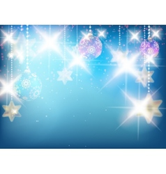 Christmas decoration Background with stars vector image