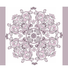 Classic style circular ornament vector image vector image