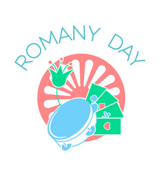icon on the romany day vector image vector image