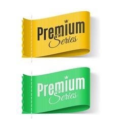 Labels Premium series vector image