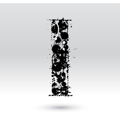 Letter I formed by inkblots vector image