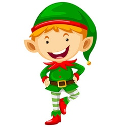 Little elf with happy face vector image vector image