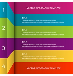 Modern 3D colorful infographic template vector image