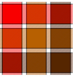 red color check plaid seamless pattern vector image