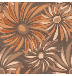 Retro floral seamless texture with asters vector image