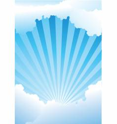 sky with rays vector image vector image