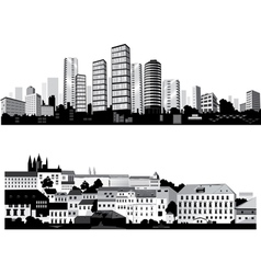 best city silhouettes vector image