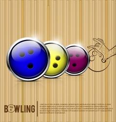 Bowling Balls bowling alley vector image