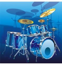 drum kit vector image