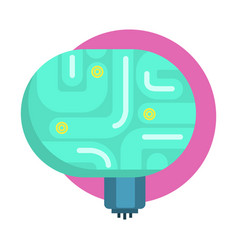 elecrtonic brain for android human organ replica vector image