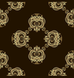 seamless luxury golden pattern vector image