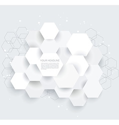 Abstract geometric shape from gray hexagones vector image