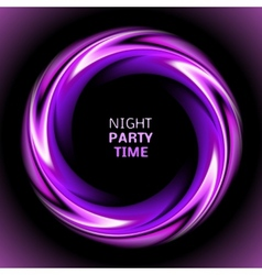 Abstract light purple swirl circle on black vector