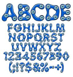 Alphabet with amulet eyes fatima vector