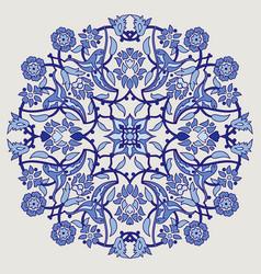 Arabesque vintage elegant floral decoration print vector