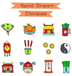 art of Chinese object vector image