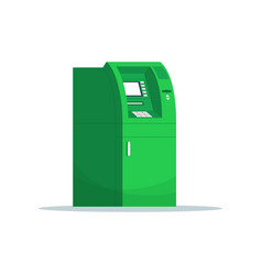 Atm for money withdrawal semi flat rgb color vector