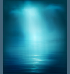 background blue sea with light vector image
