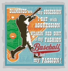 Baseball words fans vector