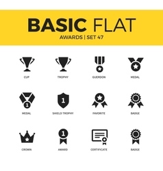 Basic set of Awards icons vector