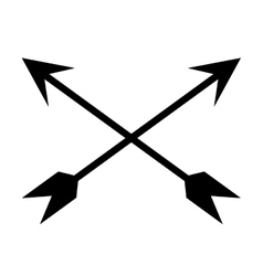 Black crossed arrows vector