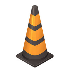 black orange cone icon isometric style vector image