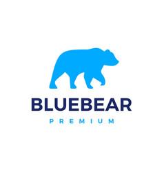 Blue bear logo icon vector