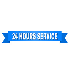 blue ribbon with 24 hours service title vector image