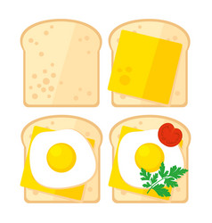 Breakfast toast vector