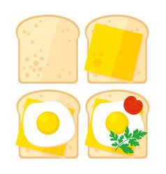 breakfast toast vector image