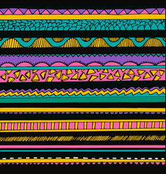 bright colourful tribal seamless pattern vector image