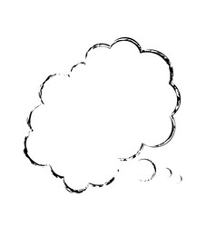 Bubble comic speech chat cloud sketch vector