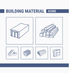 building material icons - set web and mobile 01 vector image