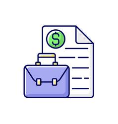 Business broker rgb color icon vector