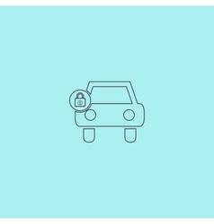 car lock icon vector image