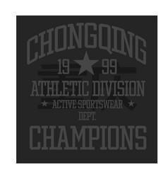 Chongqing sport t-shirt design vector
